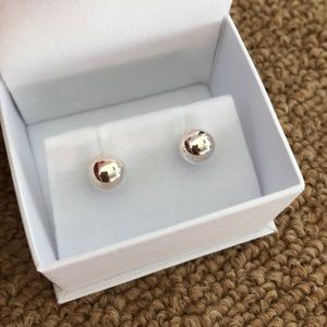 NWT Brilliant Earth Sterling Silver Round Studs